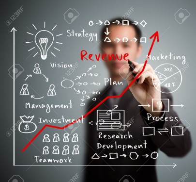 15763875-business-man-writing-increased-revenue-graph-with-process-of--Stock-Photo